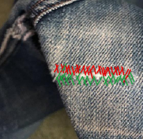 リペアの縫い方2