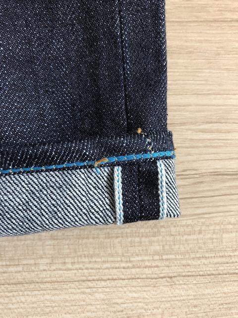 ジャパンブルーバゲット裾裏