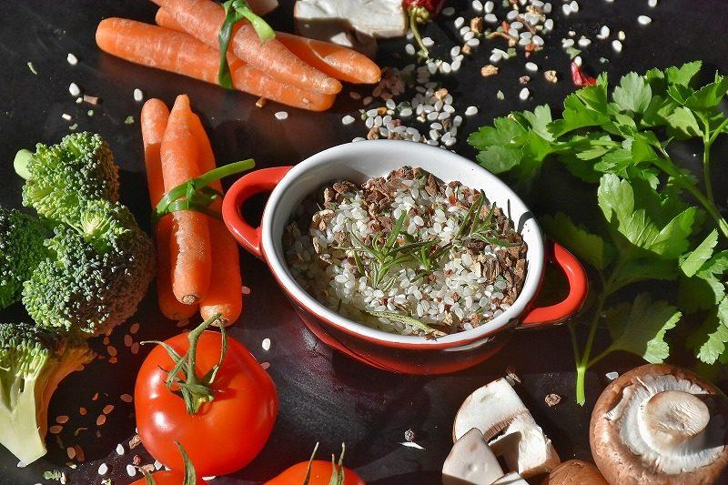玄米と野菜